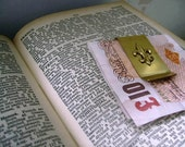 Vintage Money Clip with Brass Fleur De Lis - FRANCOPHILE - Ideal Mens Gift - ooak