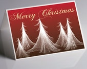 Christmas Cards - Merry Christmas / Holiday / Greeting - Box of 10 - Original drawing - Personalize Them