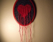 From my heart is leaking my love Embroidery Art, On Sale