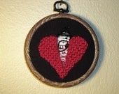 Singing heart, Embroidery Art