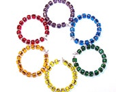Rainbow Colored Wine Charms Set of 6