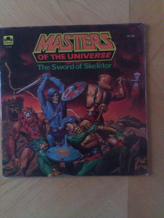 Vintage Masters Of The Universe Book The Sword Of Skeletor Two Covers