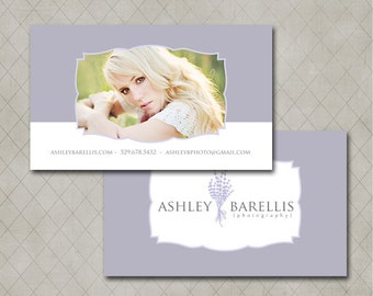 Double Sided Business Card Template for Millers Lab- Ashley Collection