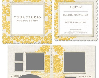 Yellow Damask Mini Marketing Package- 5 Pieces for Millers Lab