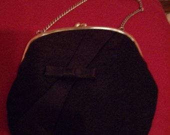 Vintage black bow purse