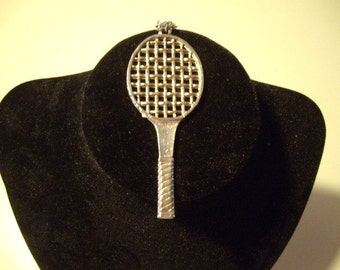 Vintage tennis racket pendant