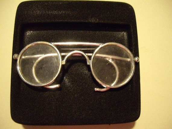 Spectacle glasses pin