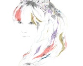 SALE A3 print - princess delight
