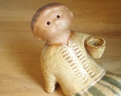 Mid Century Stoneware Boy Figure