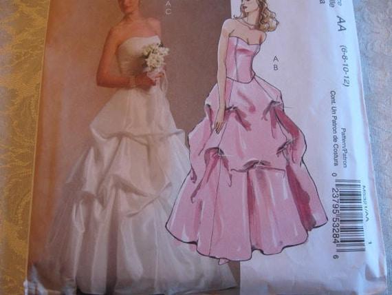 UNCUT FF  McCalls 5321 Bridal Elegance Top and Skirt  Sizes 6, 8, 10, 12  From JasminsTreasures