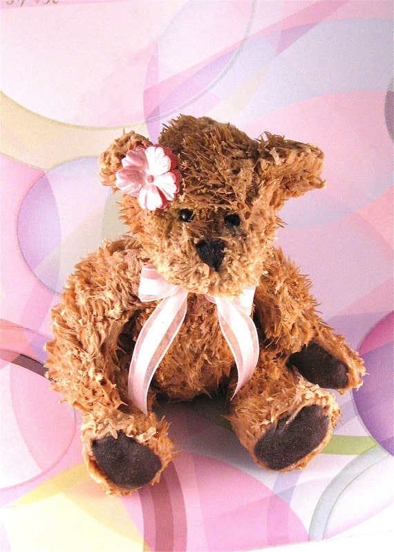 Wax Dipped Scented Bear-Small