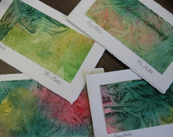 "Watercolour ""Crystal"" cards - Set of 4 cards"
