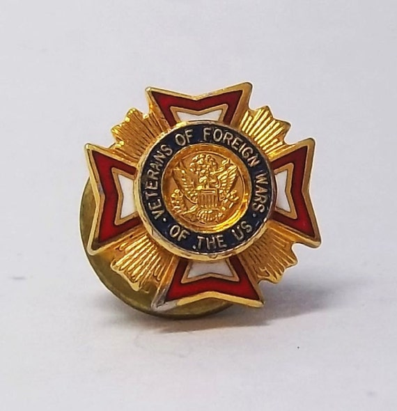 Vintage Veterans of Foreign Wars of the US pin