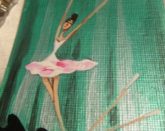 ACEO Painting - Young Lass on the Flying Trapeze 3 - Artistry To Alchemy