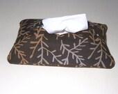 Brown batik tissue pouch accessory