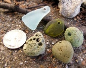 Genuine Sea Glass and 1800s Slag Glass Collection Drilled for Jewelry - Fragile Family -