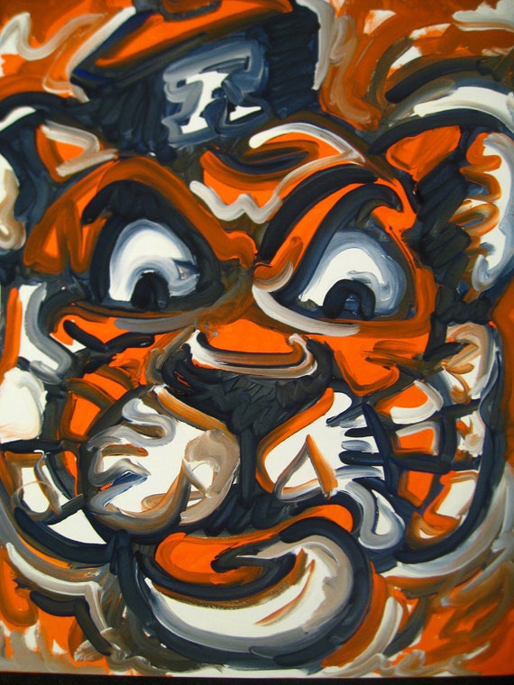 Auburn Tigers Painting By Justin Patten Held For Bee