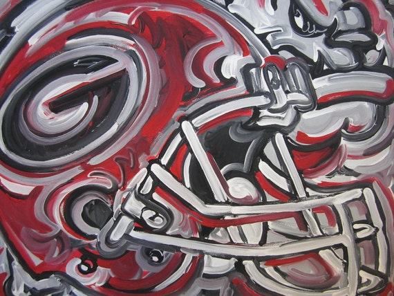 georgia bulldogs painting by justin patten sports art