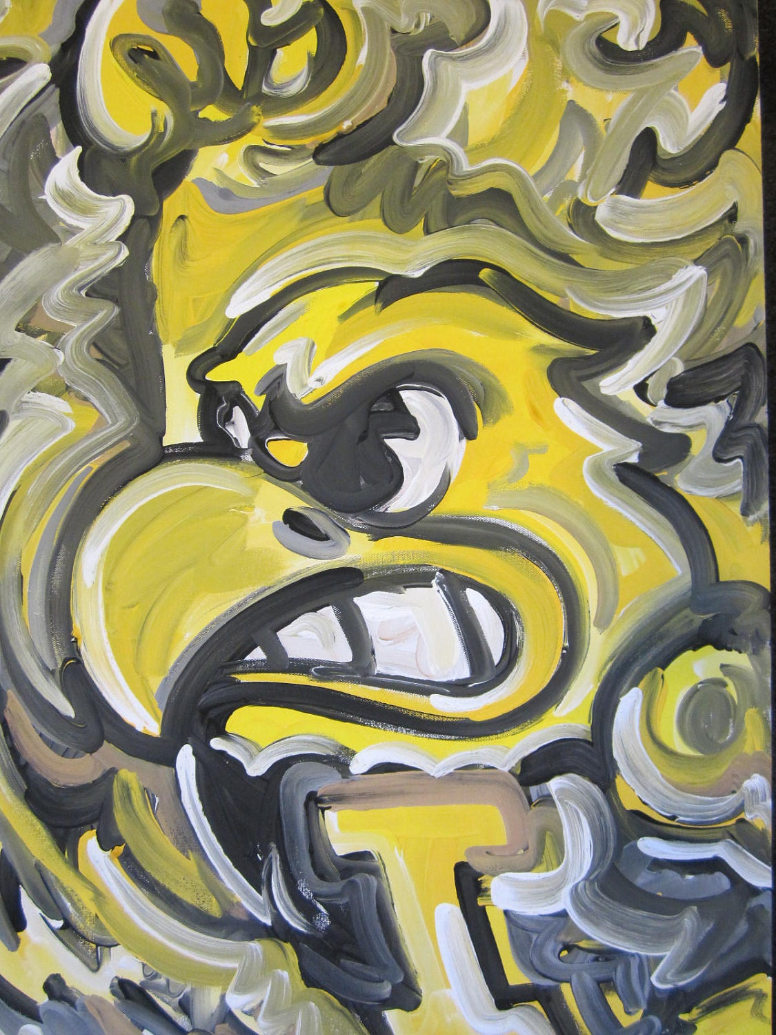 iowa hawkeyes painting by justin patten sports art