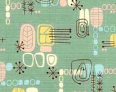 For tiki777 OnLy -- SO SHAG Retro Jade Atomic Tiki Barkcloth -- NEW, By-The-Yard