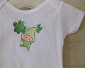 St Patricks Day Onesie - Lucky Little Ruffle Bottom Onesie
