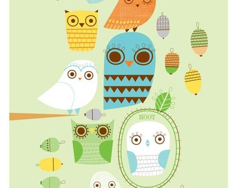 GIVE A HOOT limited edition print