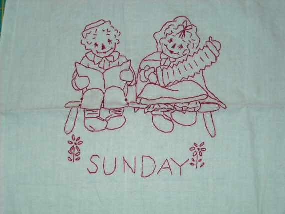 Ann and Andy's Raggety Redwork Week..Sale Special