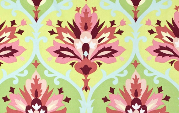 Home Decor Fabric Yardage- Amy Butler-Love Collection-Trumpet Flowers-Pink - 1 Yard