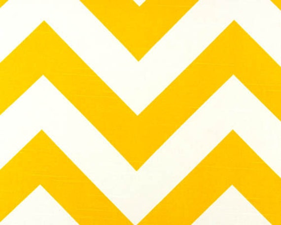 Home Dec Fabric Yardage - Large Chevron Stripe- Sunny Yellow  and White - 1 Yard