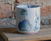 Green and Blue Whimsey Mug