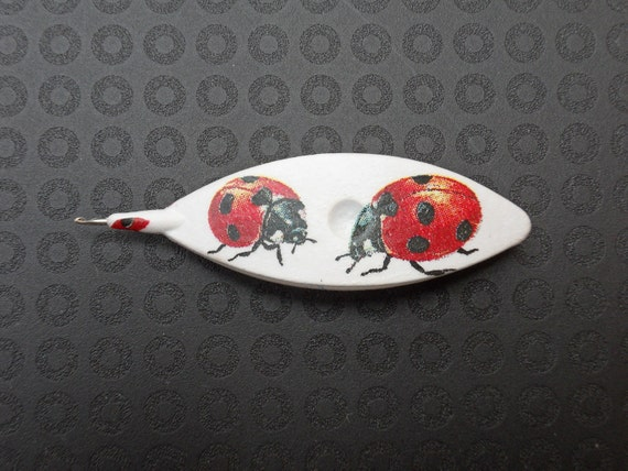 Tatting Shuttle (Ladybird) - Special Order for M.