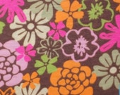 Blooming Beachy Cotton Jersey Knit Fabric