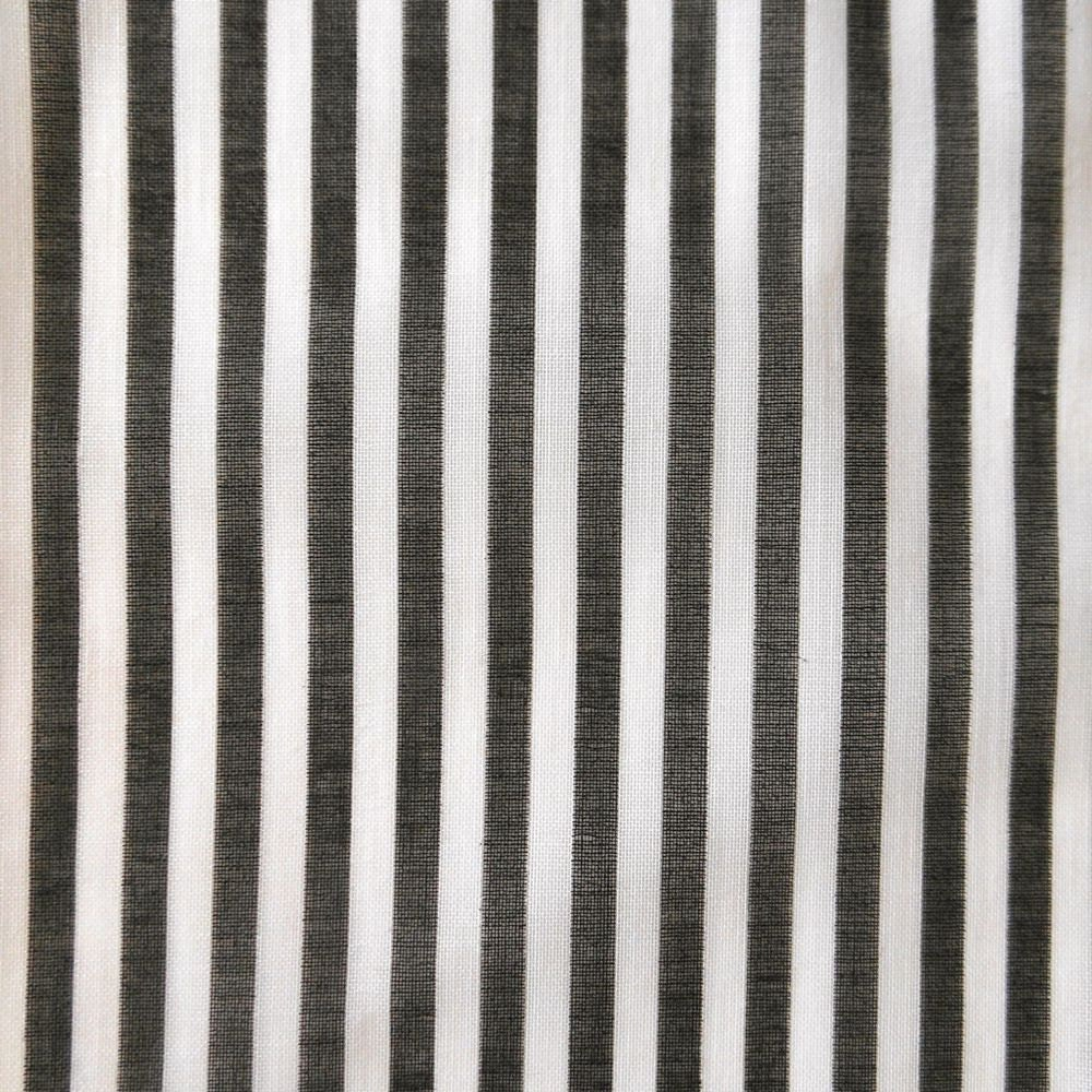 Vintage black and white striped cotton fabric 3 yards for Black and white fabric