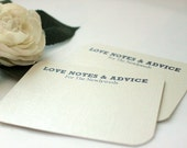 125 Comment Cards / Love Notes /Advice Cards