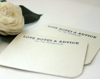 75 Comment Cards / Love Notes /Advice Cards