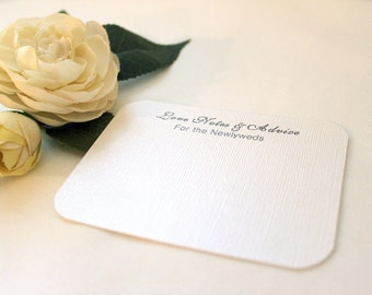 60 Wedding Advice Cards / Love Notes / Marriage Advice - Lovely; bride and groom newlyweds words of wisdom well wishes guestb bridal shower