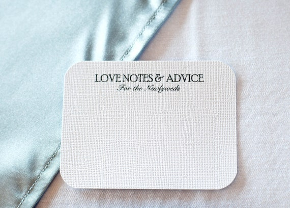25 Comment Cards / Love Notes /Advice Cards