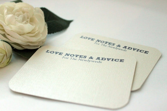 70 Comment Cards / Love Notes /Advice Cards