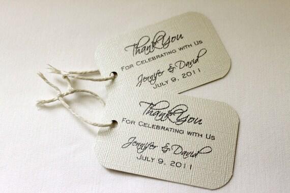 150 Wedding Favor Gift Tags - Sophisticated Design