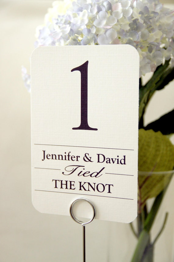 10 - Wedding Reception Table Number Cards