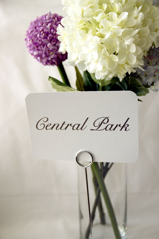 20 Custom Wedding Reception Table Name Cards Timeless