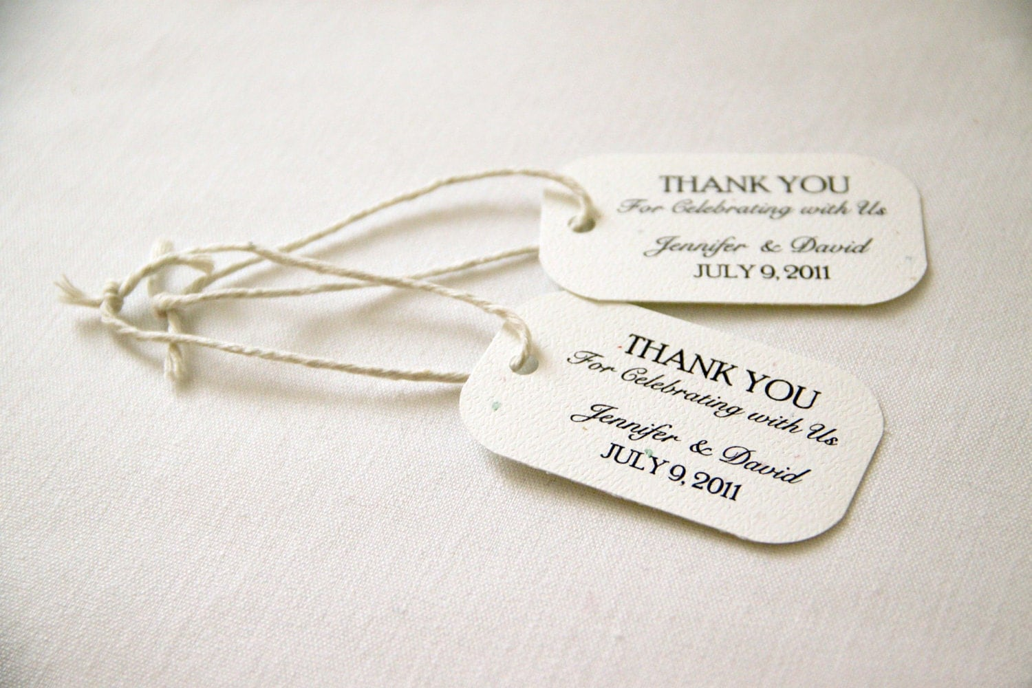 150 Mini Wedding Favor Gift Tags Classic Thank You