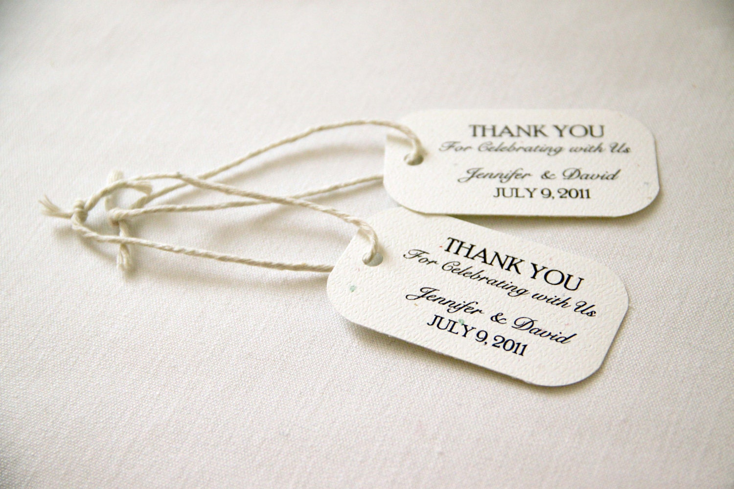 Wedding Gift Tags Ideas : 150 Mini Wedding Favor Gift Tags Classic Thank You