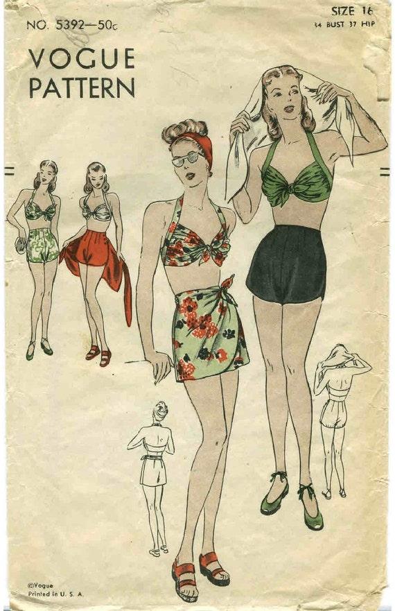Vintage swim suit pattern