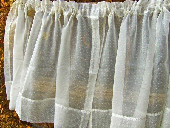 Sheer Polka Dot Curtains by perfectmomentpillows on Etsy