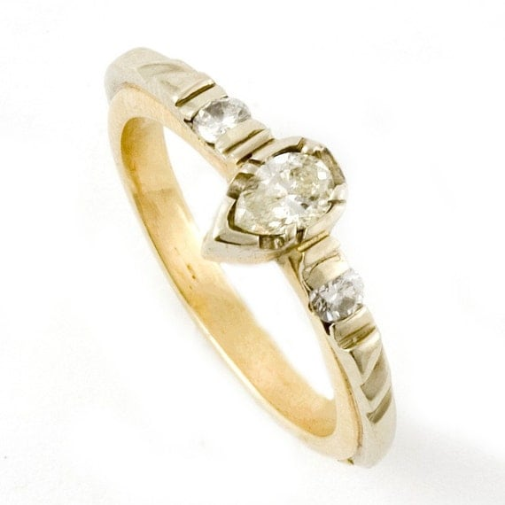 Items Similar To Teardrop Engagement Ring On Etsy