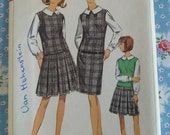 Simplicity Pattern 6692 Misses Jumper or Top, Skirt & Blouse Size 12 Bust 32 Vintage 1960s Sewing cut/complete