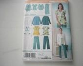 Pattern Ladies Scrubs Jacket Pants Tops Medical Sz 10-18 Simplicity 3542 A