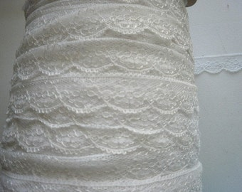 White Lingerie Lace 1 inch wide Slip  Doll  969  5 yds