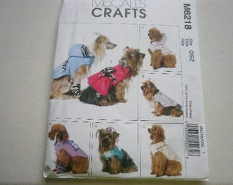 Pattern Dog Costumes Clothes SM-XLG Dogs Uncut McCalls 6218